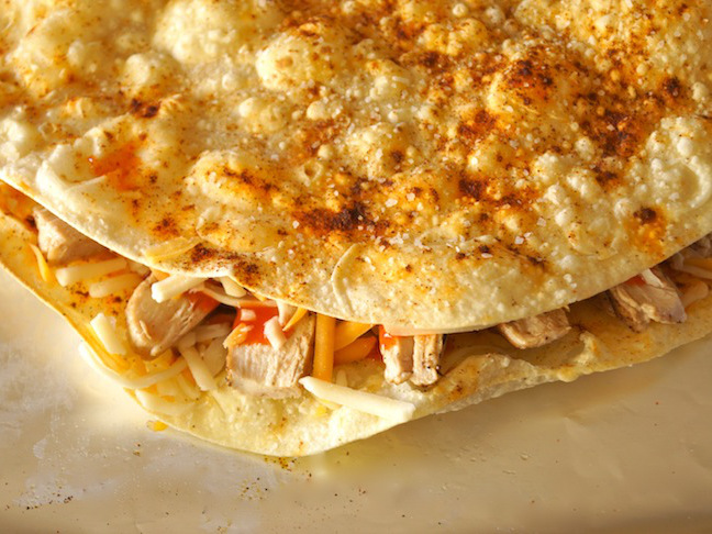 tortillas with chicken and cheese