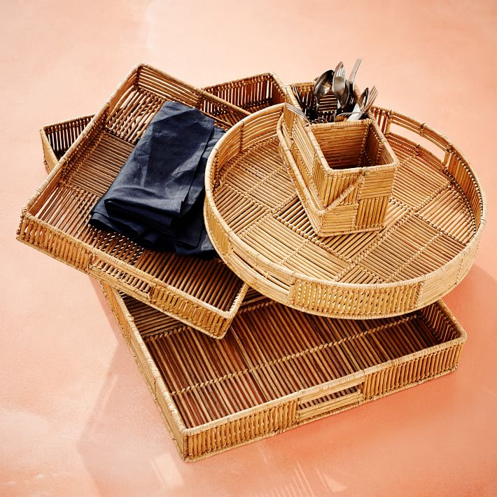 woven wood trays