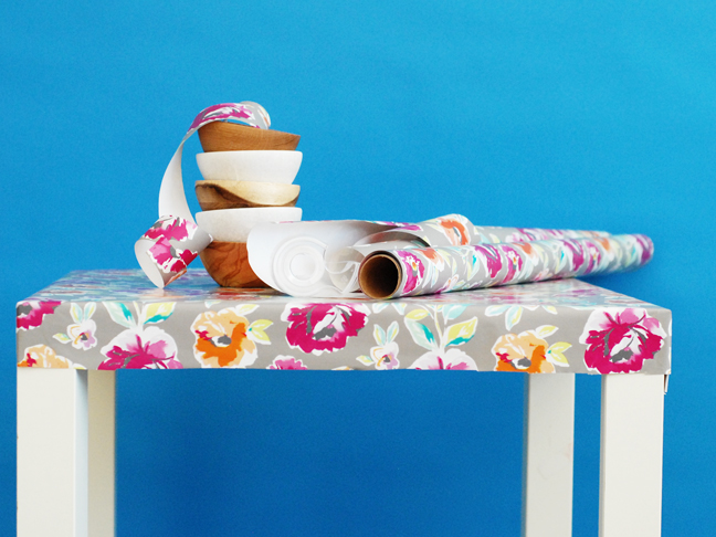 floral wrapping paper tablecloth