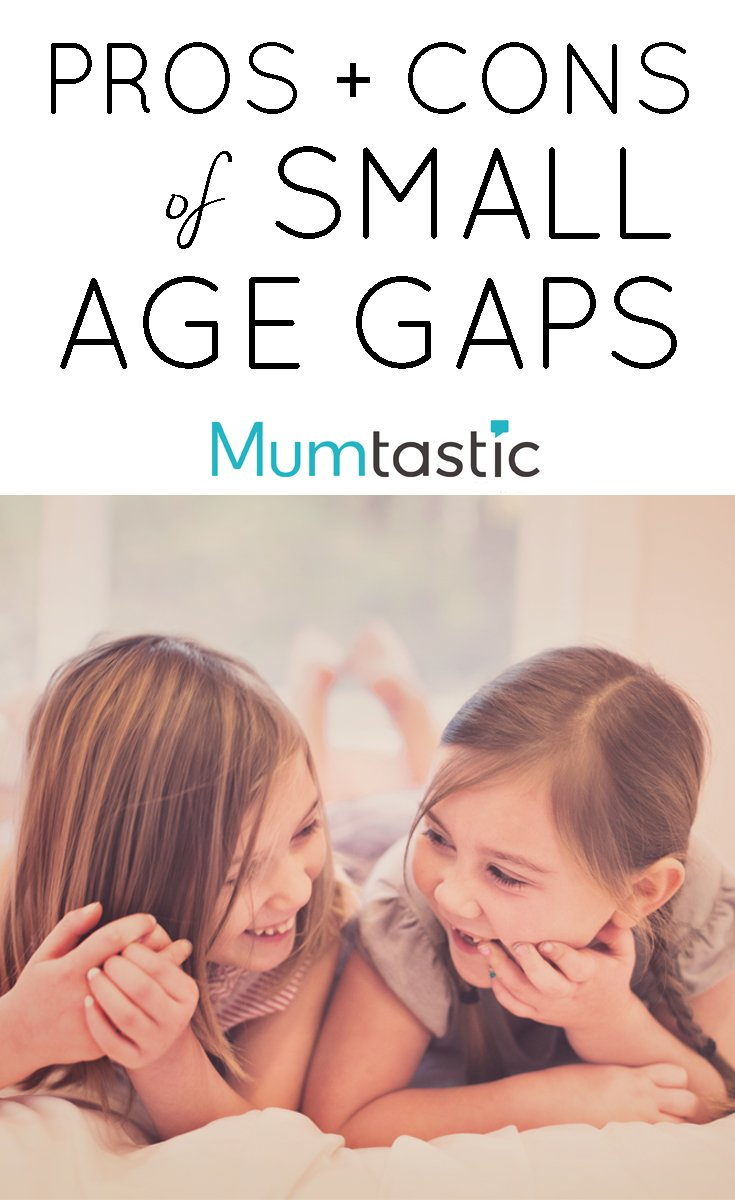 The pros and cons of small age gaps