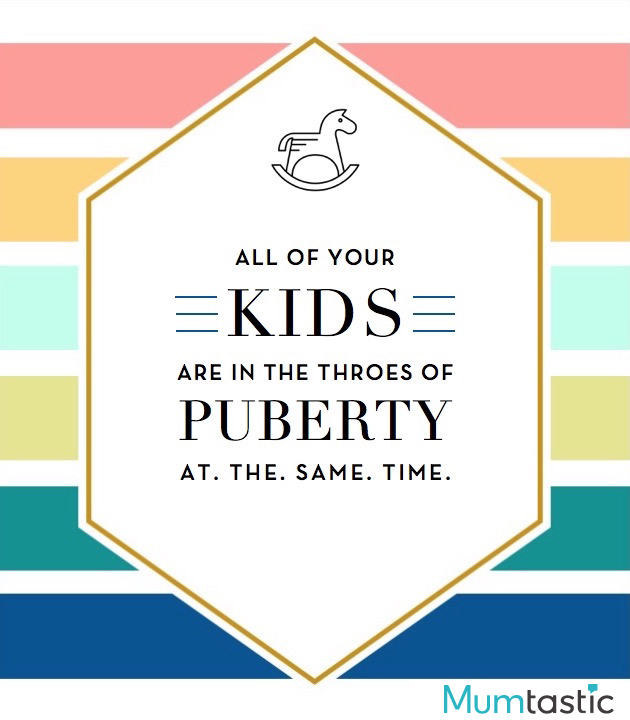 Wine labels for mum - puberty