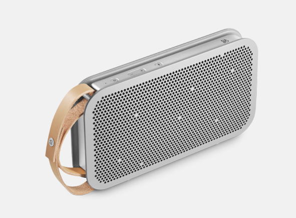 portable speaker with leather handle