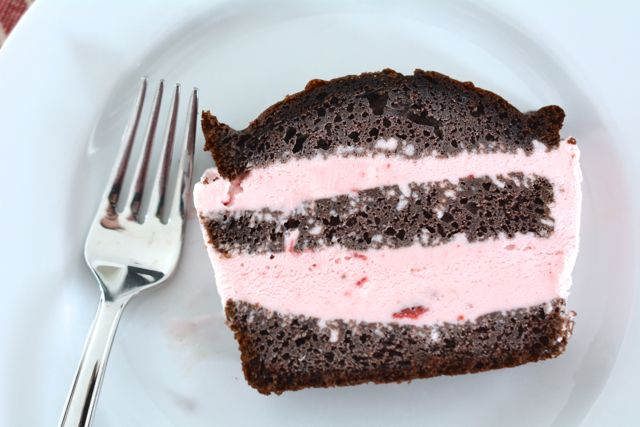 Chocolate Strawberry Ice Cream Layer Cake