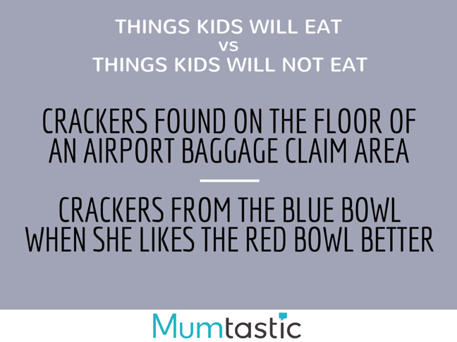 Things my kids will eat versus things my kids will not eat