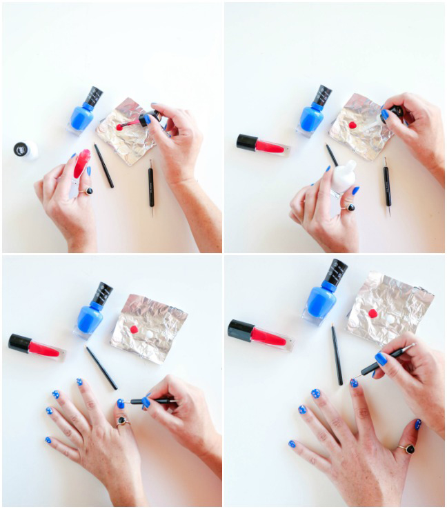 painting nails blue