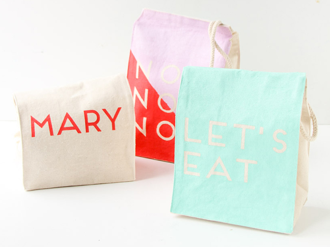 Back to School Message Lunch Bags DIY