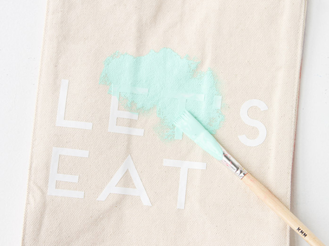 Paint Canvas Lunch Bags
