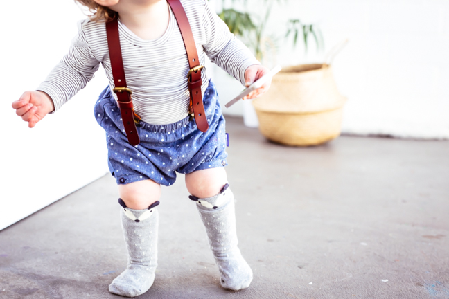kids fashion accessories mini dressing socks | photo by hipster mum