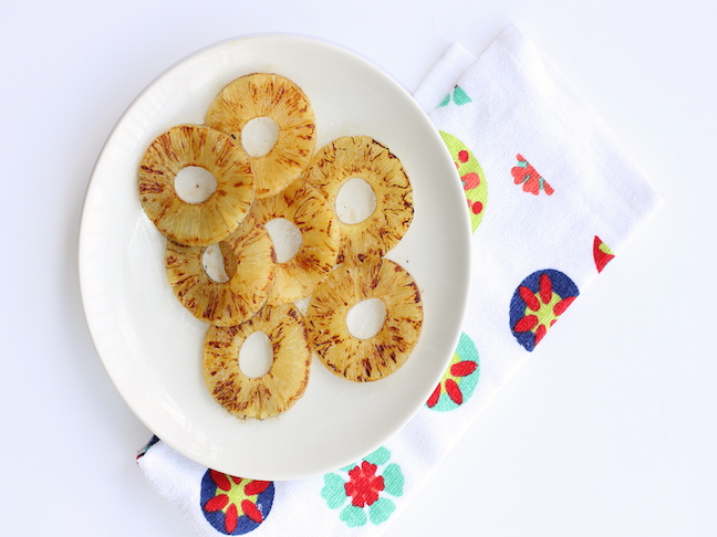 roasted pineapple rings