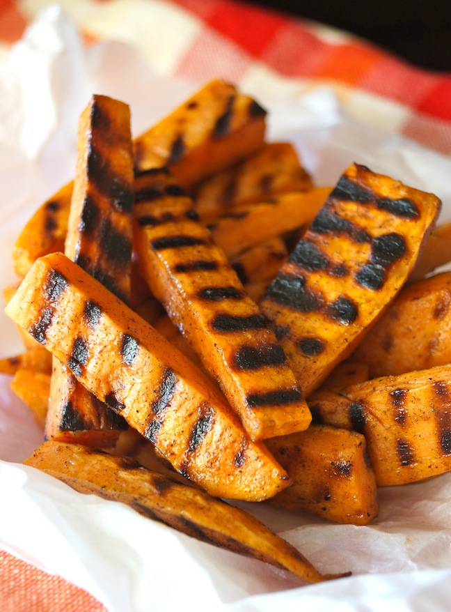 grilled sweet potato french fries