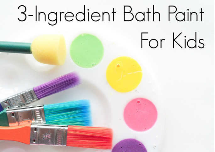 3 Ingredient bath paint for kids