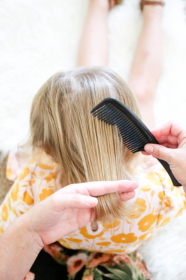 combing and prepping hair for braiding