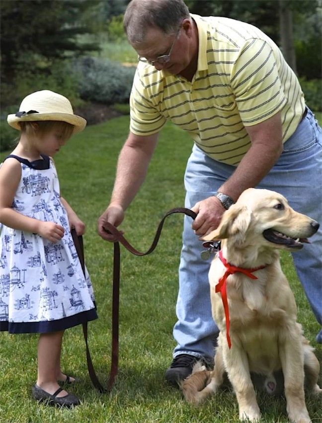 real-genevieve-dog-madeline-party-guest-golden-retriever
