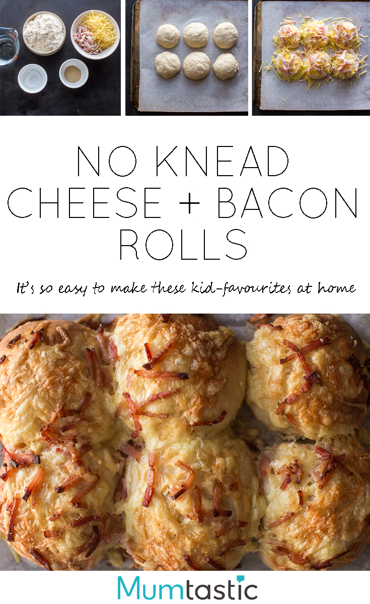 Cheese and bacon rolls are easy to make at home