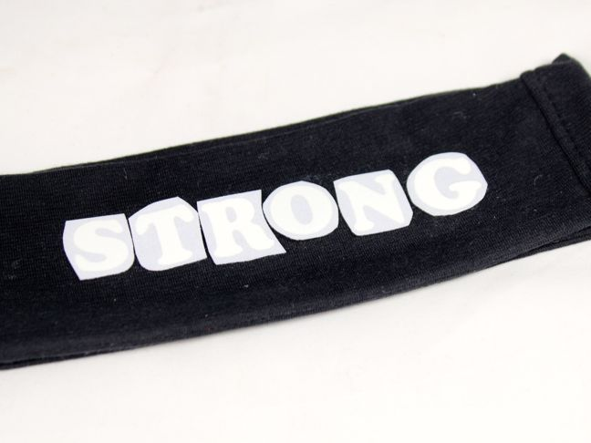 iron on letter on black headband
