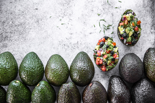 Mexican Avocado And Blueberry Salsa Boats