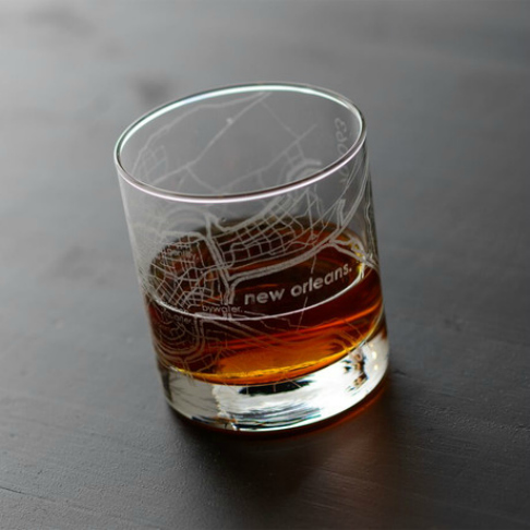 new orleans city map glass