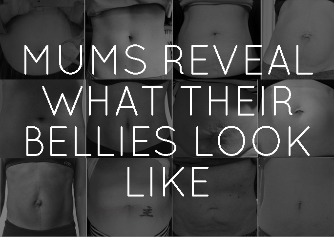 Mums reveal what their bellies look like