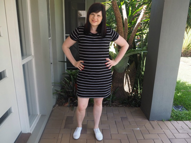 5 ways to style a striped t-shirt dress