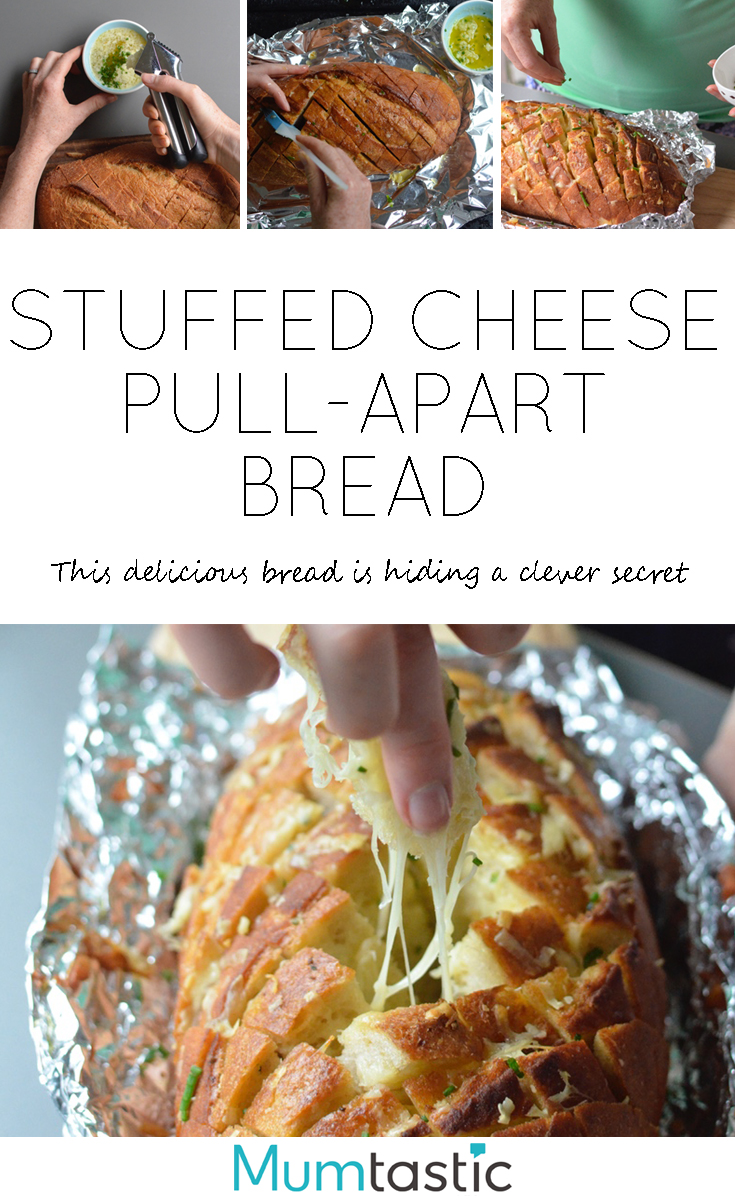 Stuffed Cheese Pull-Apart Bread