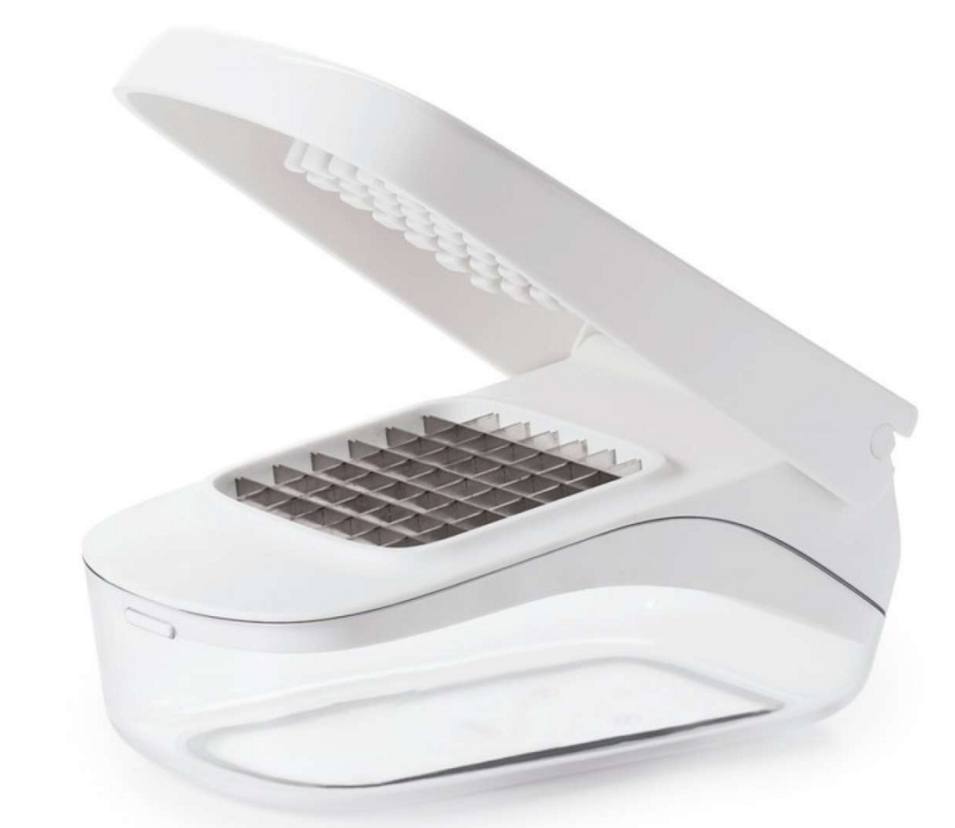 white plastic vegetable chopper