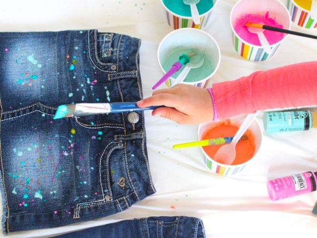 paint-brush-for-paint-splatter-jeans-with-pink-paint