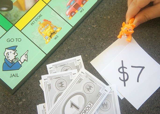 Games to play using Monopoly Junior money