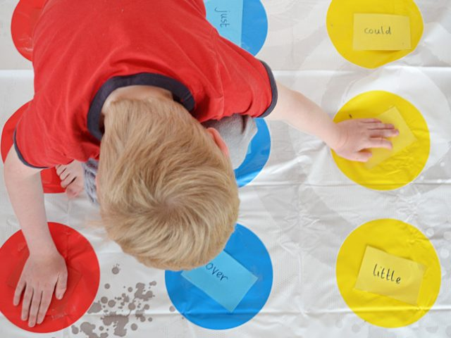 Play Spelling Twister! Make learning spelling words fun with Twister