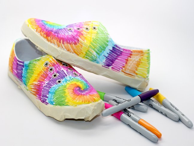 step 5.3 Tie Dye Sharpie Sneaker Project