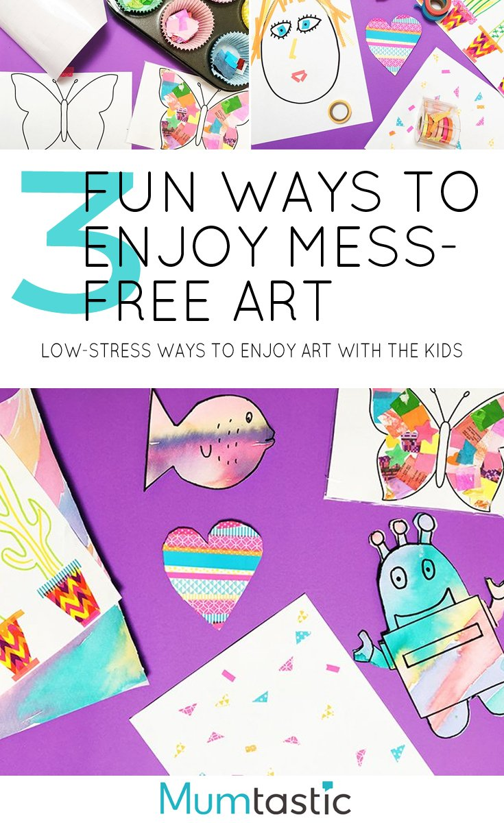 3 Fun Ways to Enjoy Mess-Free Art