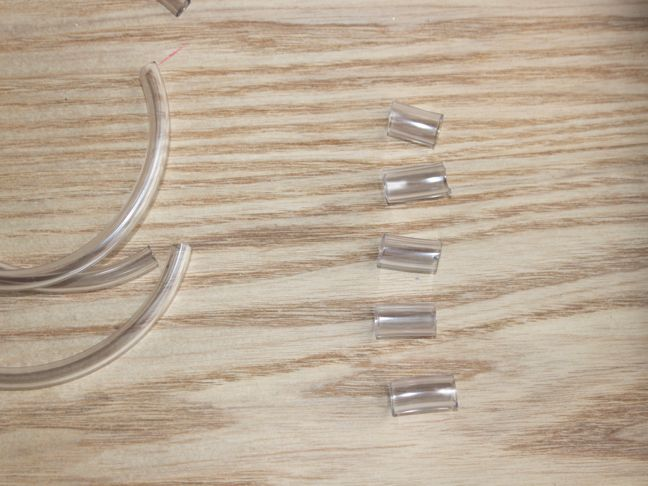 plastic tubing cut into small pieces