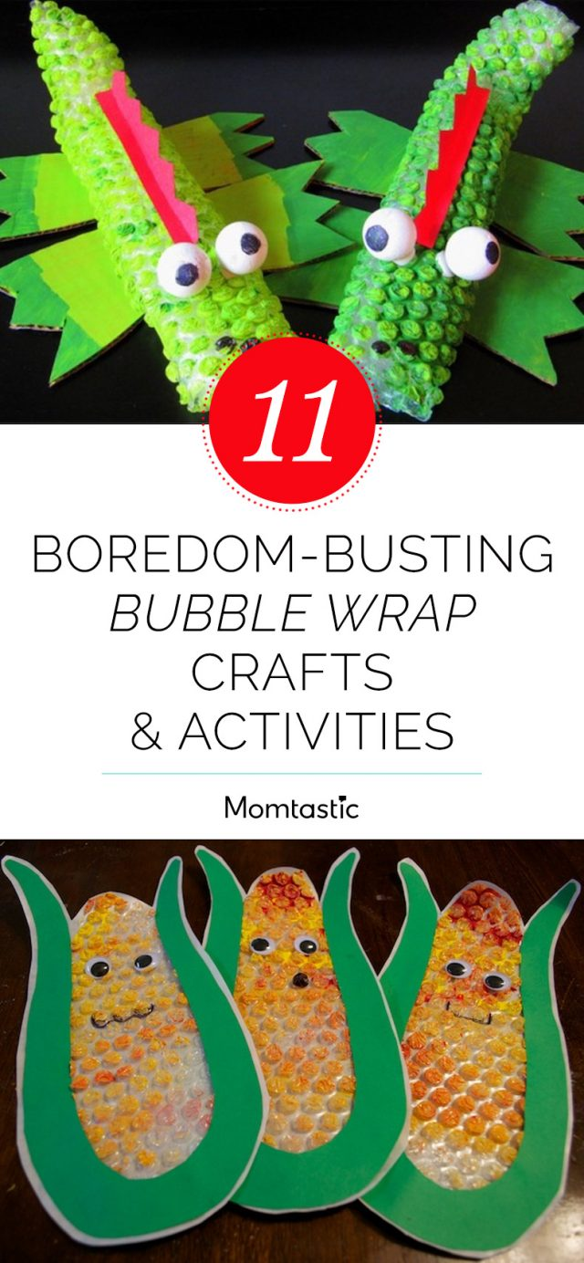 11 Boredom-Busting Bubble Wrap Crafts & Activities