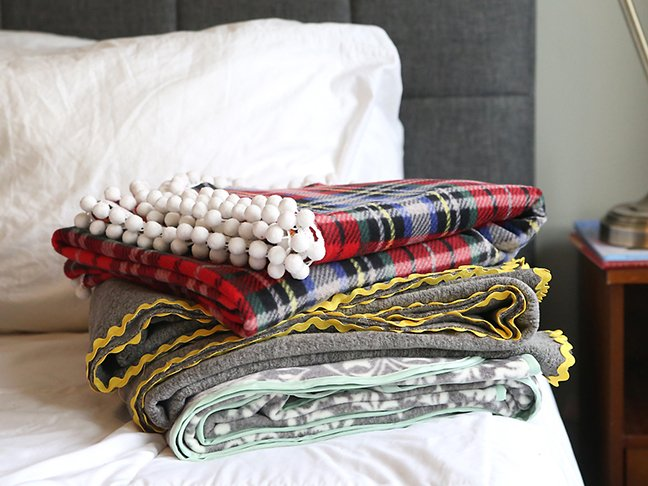 DIY throw blankets