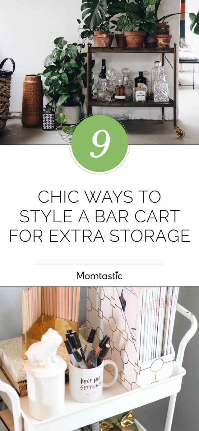 9 Chic Ways To Style A Bar Cart For Extra Storage Space