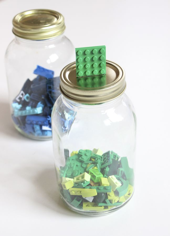 green-legos-inside-mason-jar