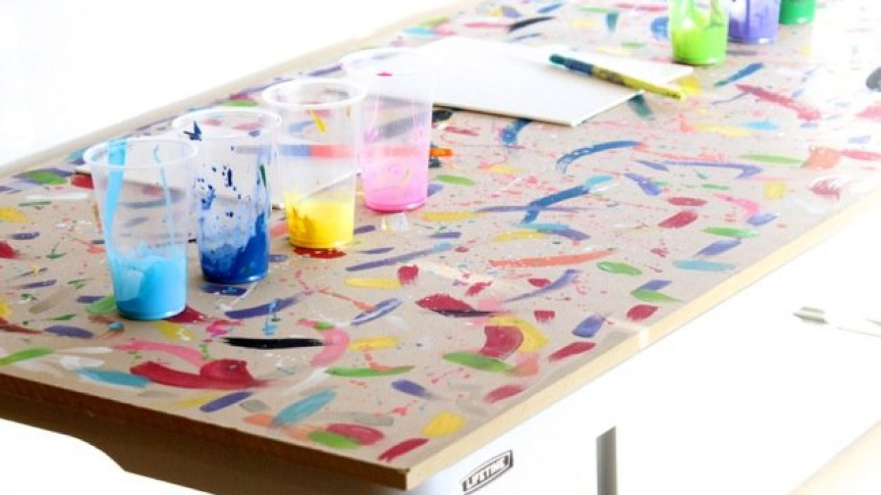 How To Make A Diy Art Table For Your Kids