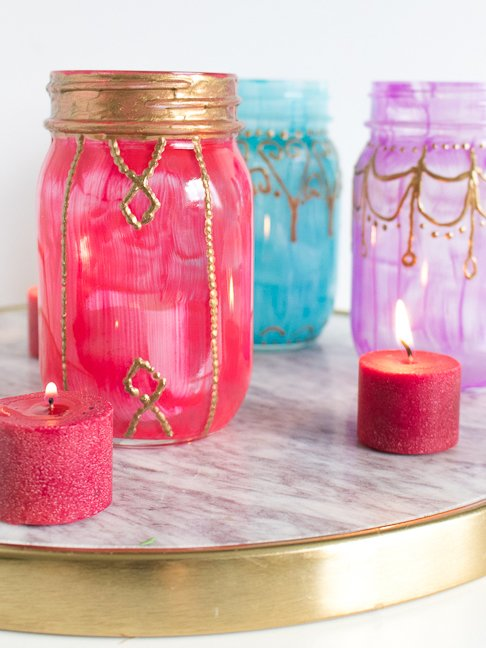 Turn any Jar into a Moroccan Glass Jar Lantern