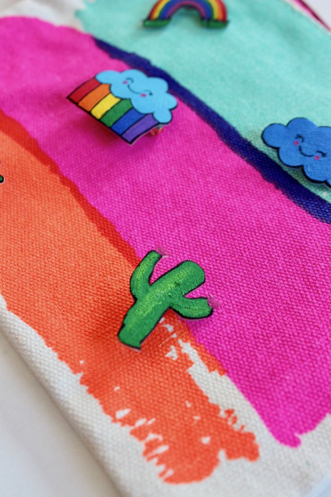 Get Pin Happy With These Colourful DIY Lapel Pins