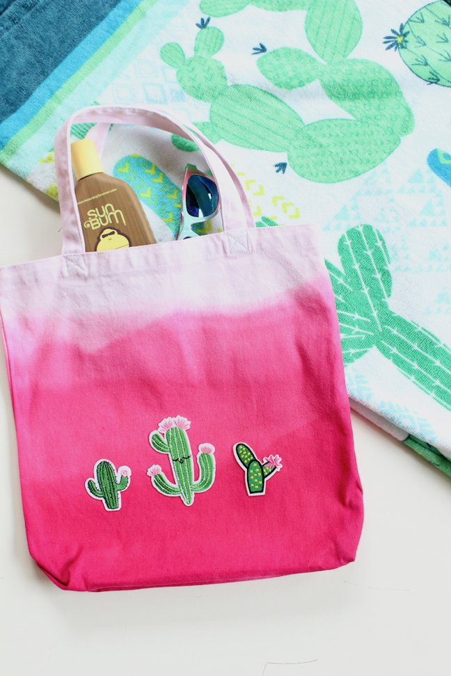 How To Make A Tote-ally Cool DIY Cactus Tote That Won't Poke You