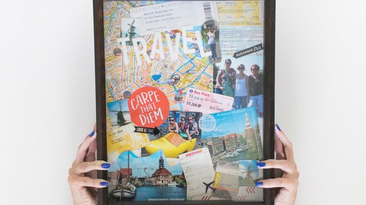 Preserve Your Vacation Memories With An Easy Diy Travel Collage