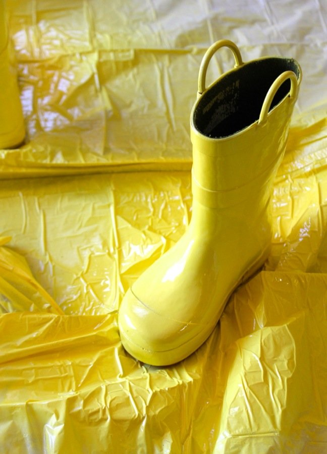 rain-boots-spray-painted-yellow