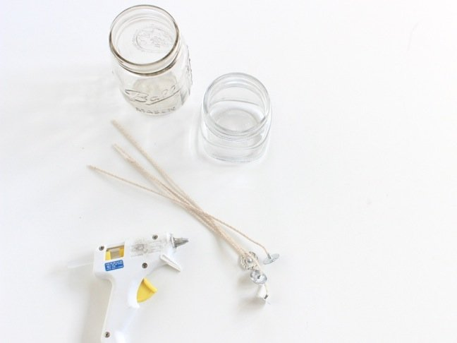 mason-jars-with-candle-wicks-and-hot-glue-gun