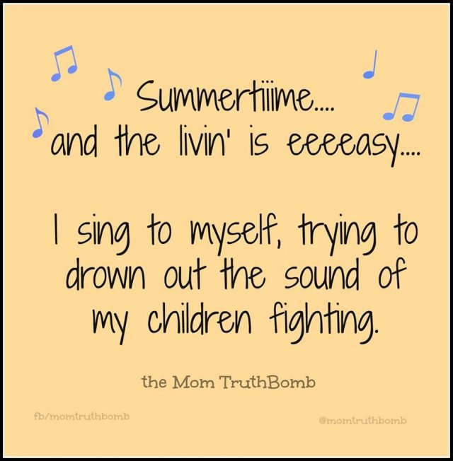 The funniest memes about summertime with the kids on @itsMomtastic by Kim Bongiorno featuring The Mum TruthBomb