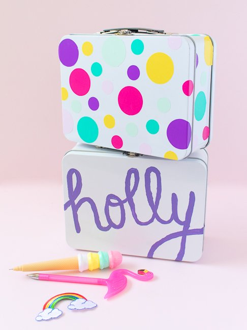Make Personalized Lunchboxes for Back to School (2 Ways!)