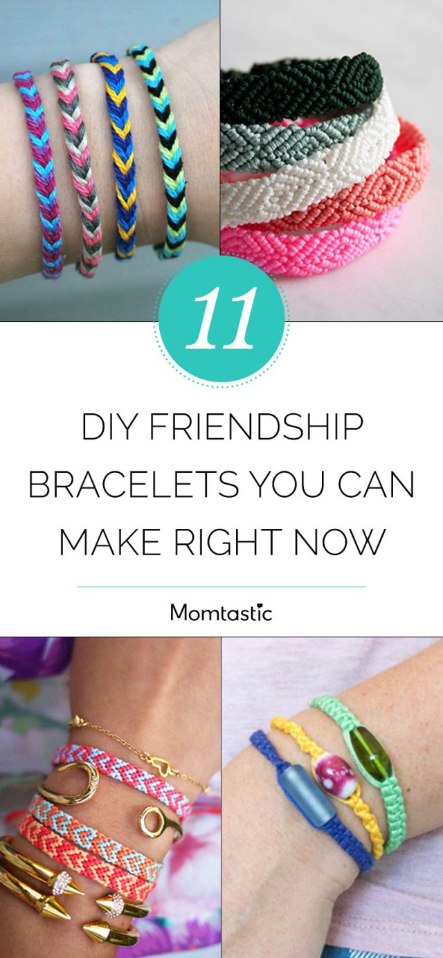 11 DIY Friendship Bracelets You Can Make Right Now