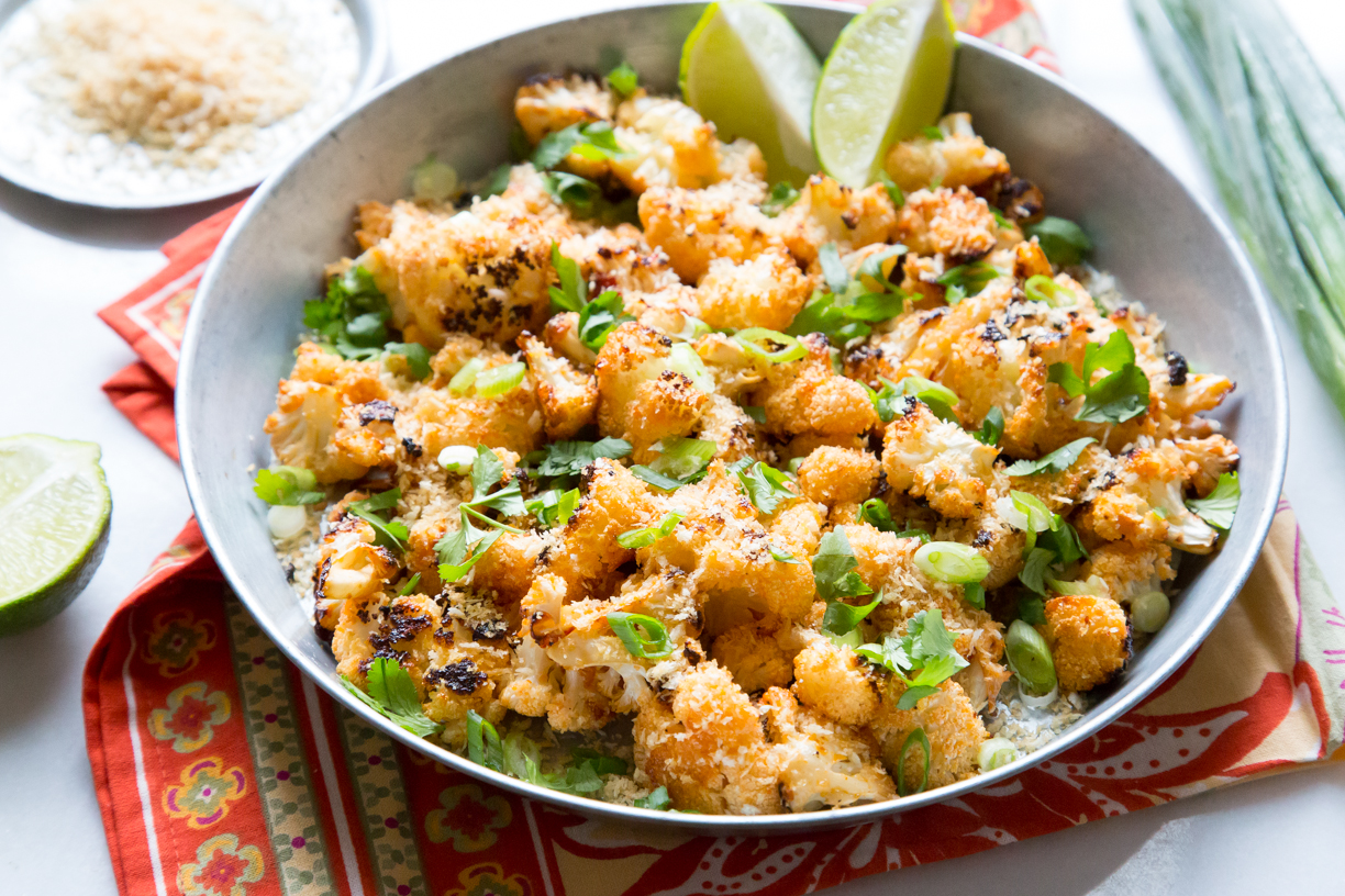 This Crispy Oven-Baked Bang Bang Cauliflower is Delicious and Better For You!