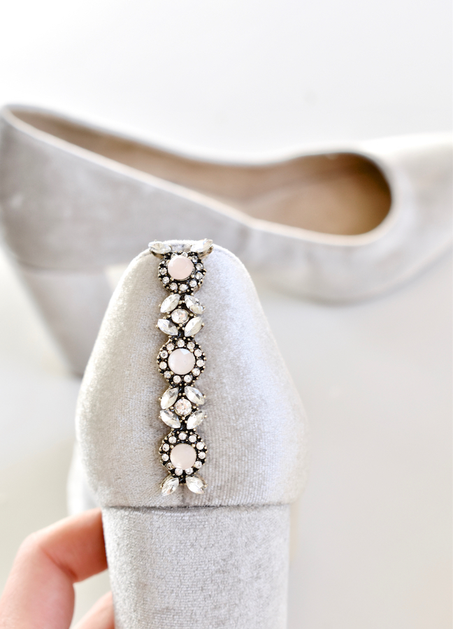 DIY Embellished Shoes For A Glam Holiday Season