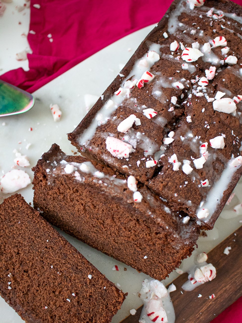 This Simple Peppermint Chocolate Bread for the Holidays