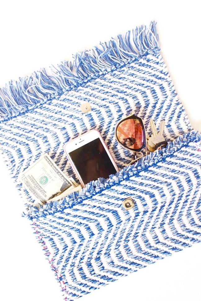 A Stylish DIY Clutch That Doesn't Require A Sewing Machine