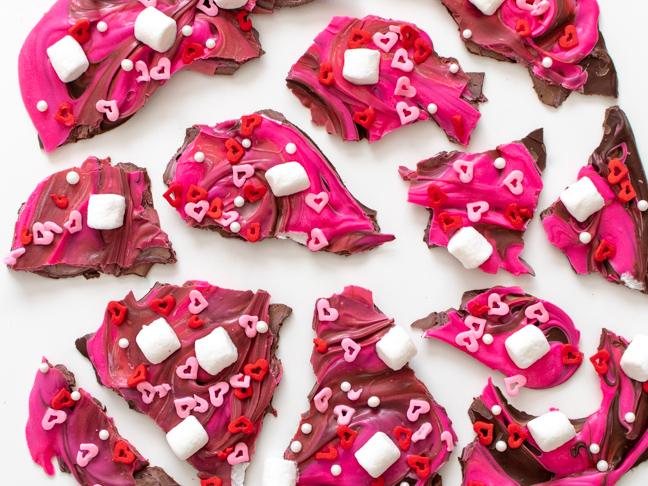 Make this Easy Swirled Valentine's Day Chocolate Bark